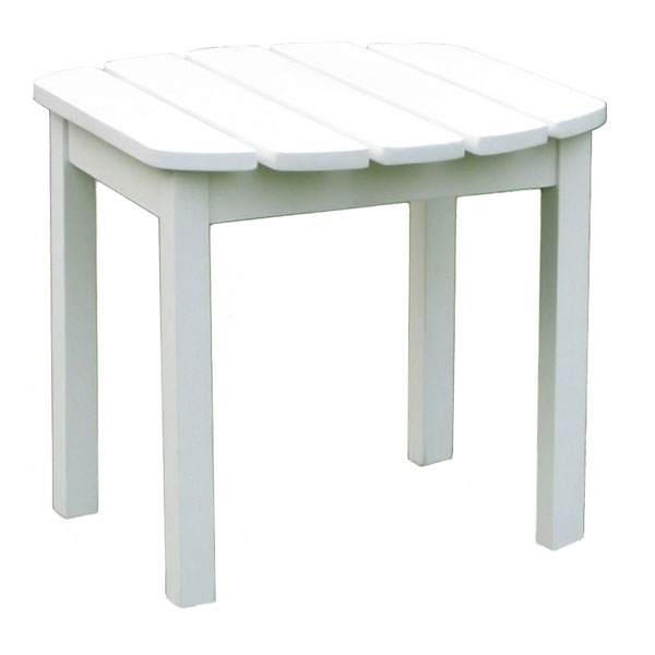 Outdoor White Adirondack Side Table