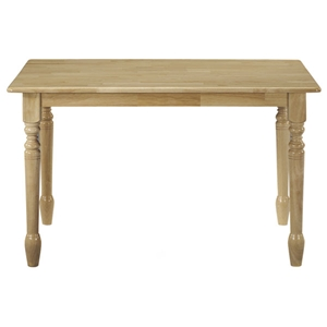Natural Solid Wood Top Dining Table