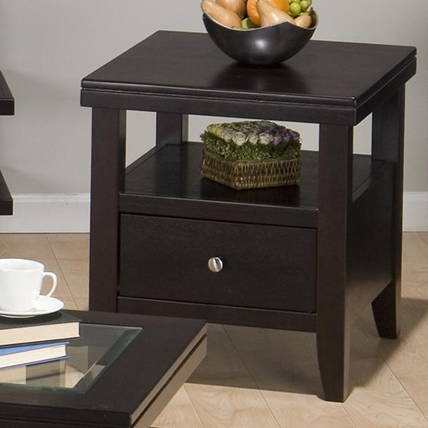 Marlon Square End Table - Wenge - JOFR-091-3