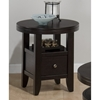 Marlon Round End Table - Wenge - JOFR-091-6