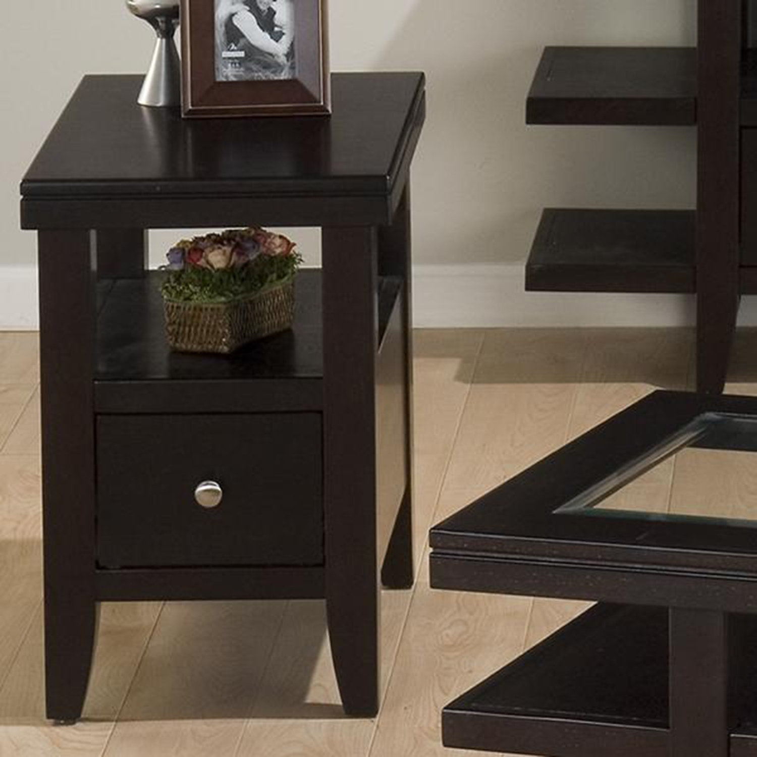 Marlon Rectangle Chairside Table - Wenge - JOFR-091-7