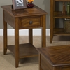 Medium Brown Chairside Table - 1 Drawer, 1 Shelf - JOFR-1031-7