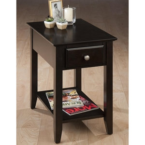 Chairside Table - Espresso, 1 Drawer
