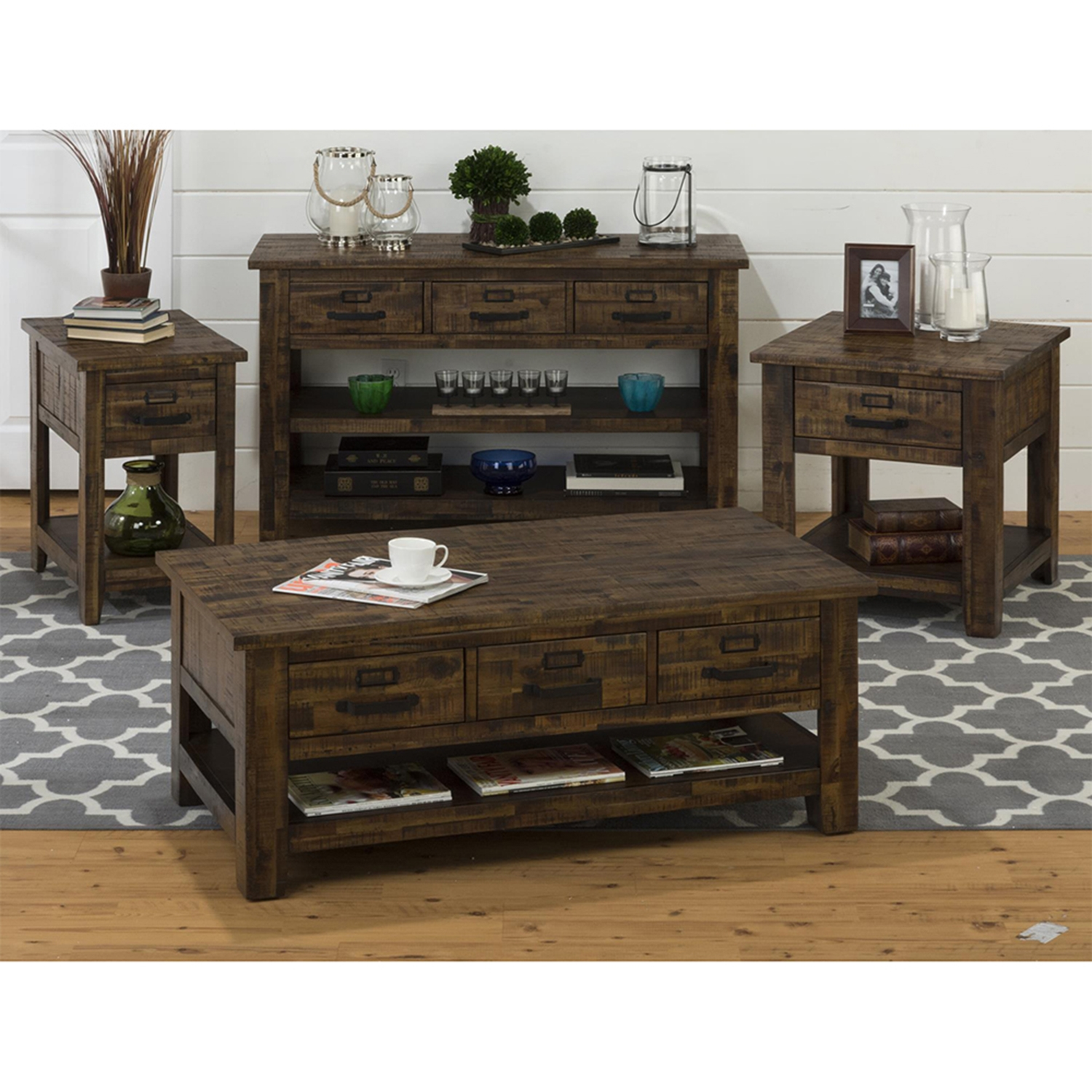 Cannon Valley 1-Drawer Chairside Table - JOFR-1510-7