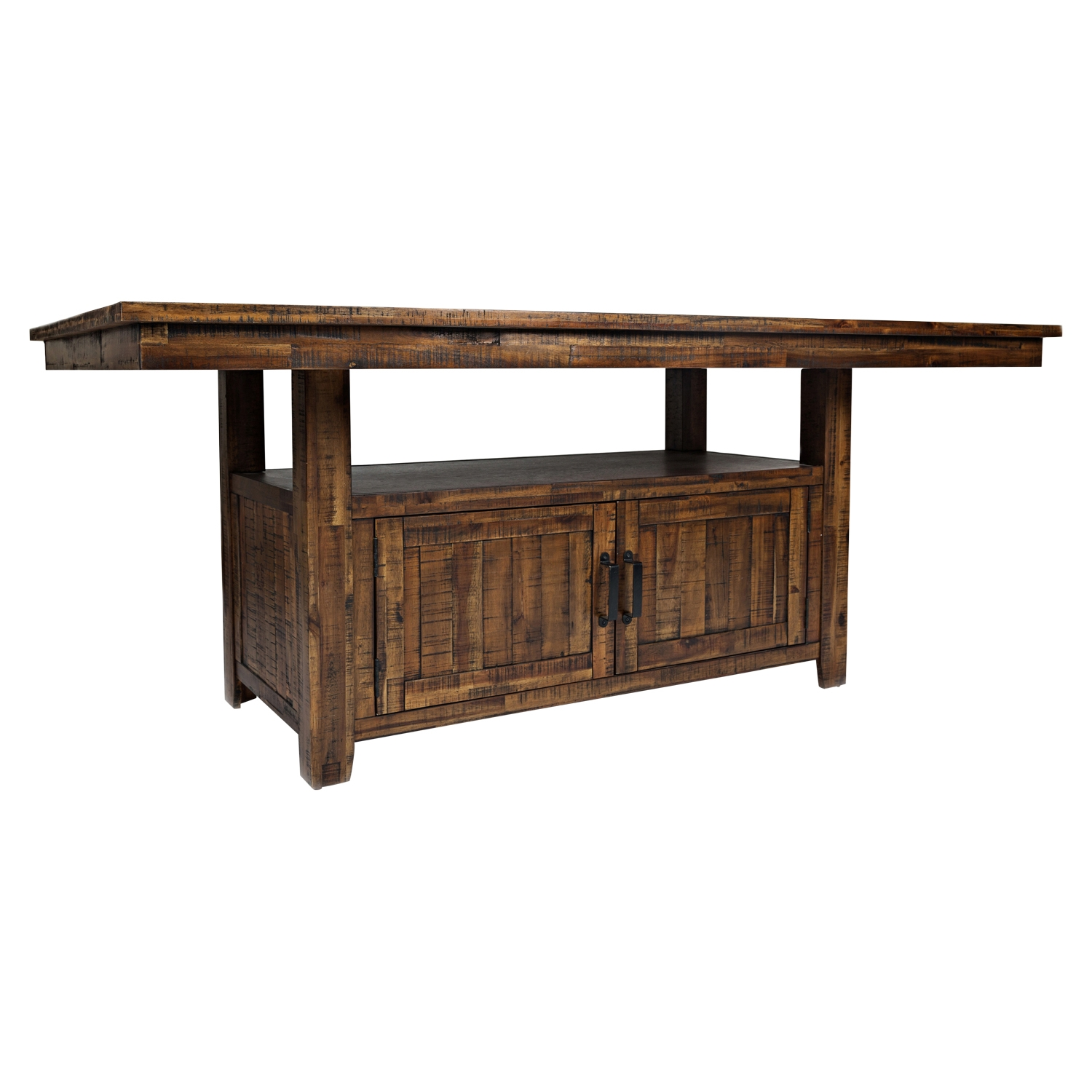 Cannon Valley Dining Table with Storage Base - JOFR-1511-72TBKT