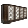 "Casa Bella 78"" Mirrored Console - Chestnut with Vintage Silver - JOFR-1560-78"