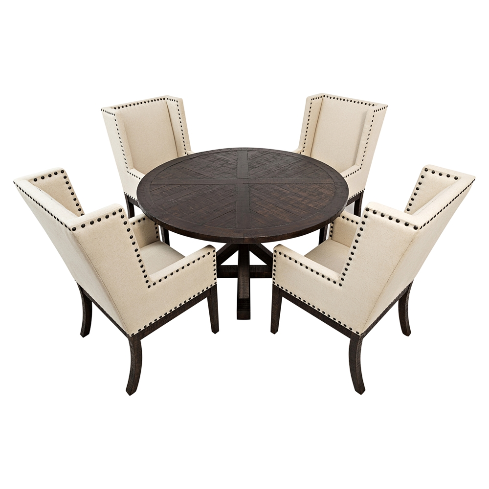 Pacific heights 52 round dining table chestnut dcg stores for Round table 52 nordenham