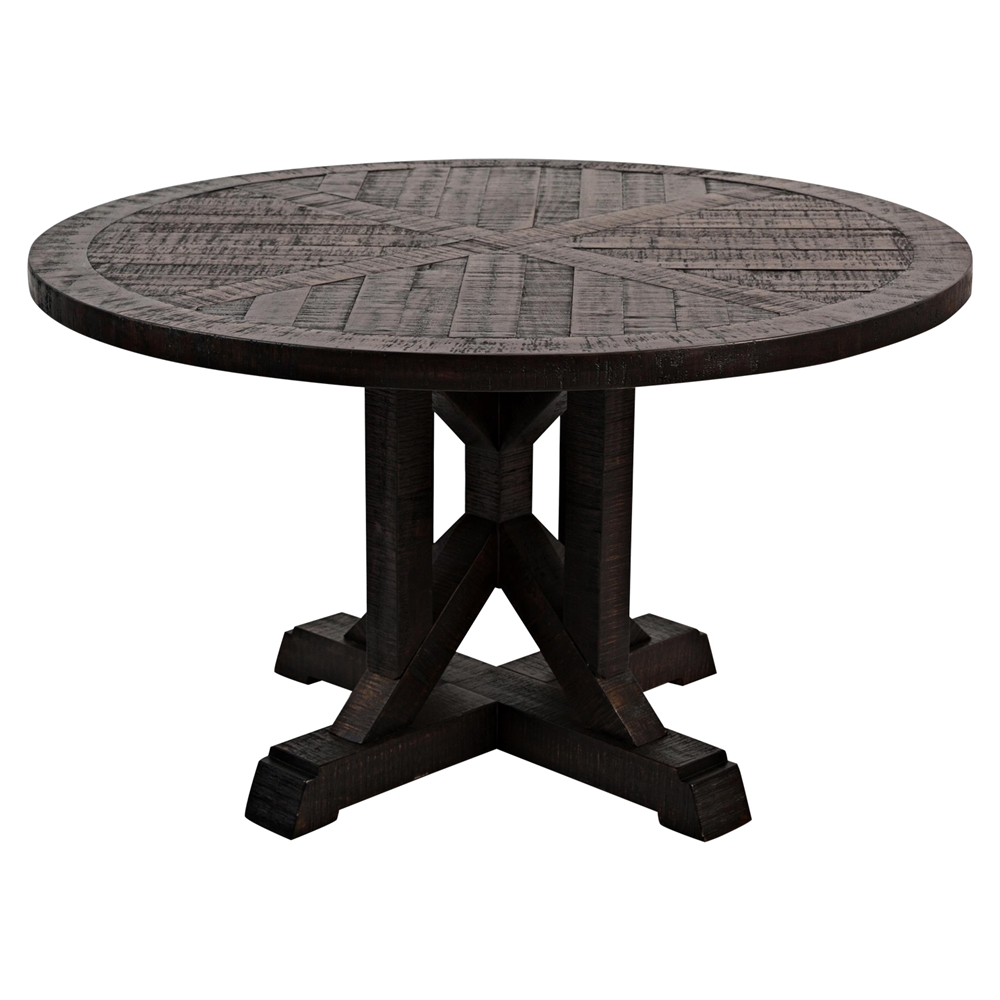 pacific heights 52 round dining table chestnut dcg stores