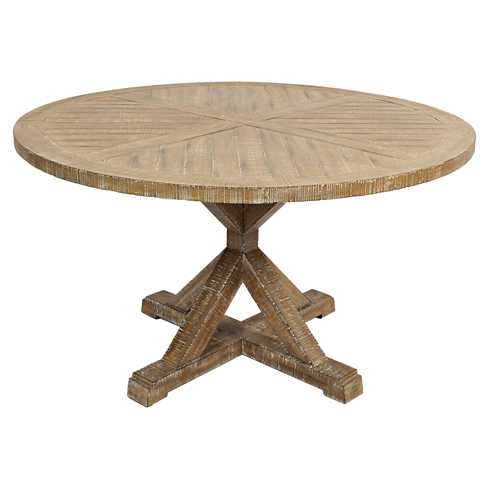 Pacific heights 52 round dining table bisque dcg stores for Round table 52 nordenham
