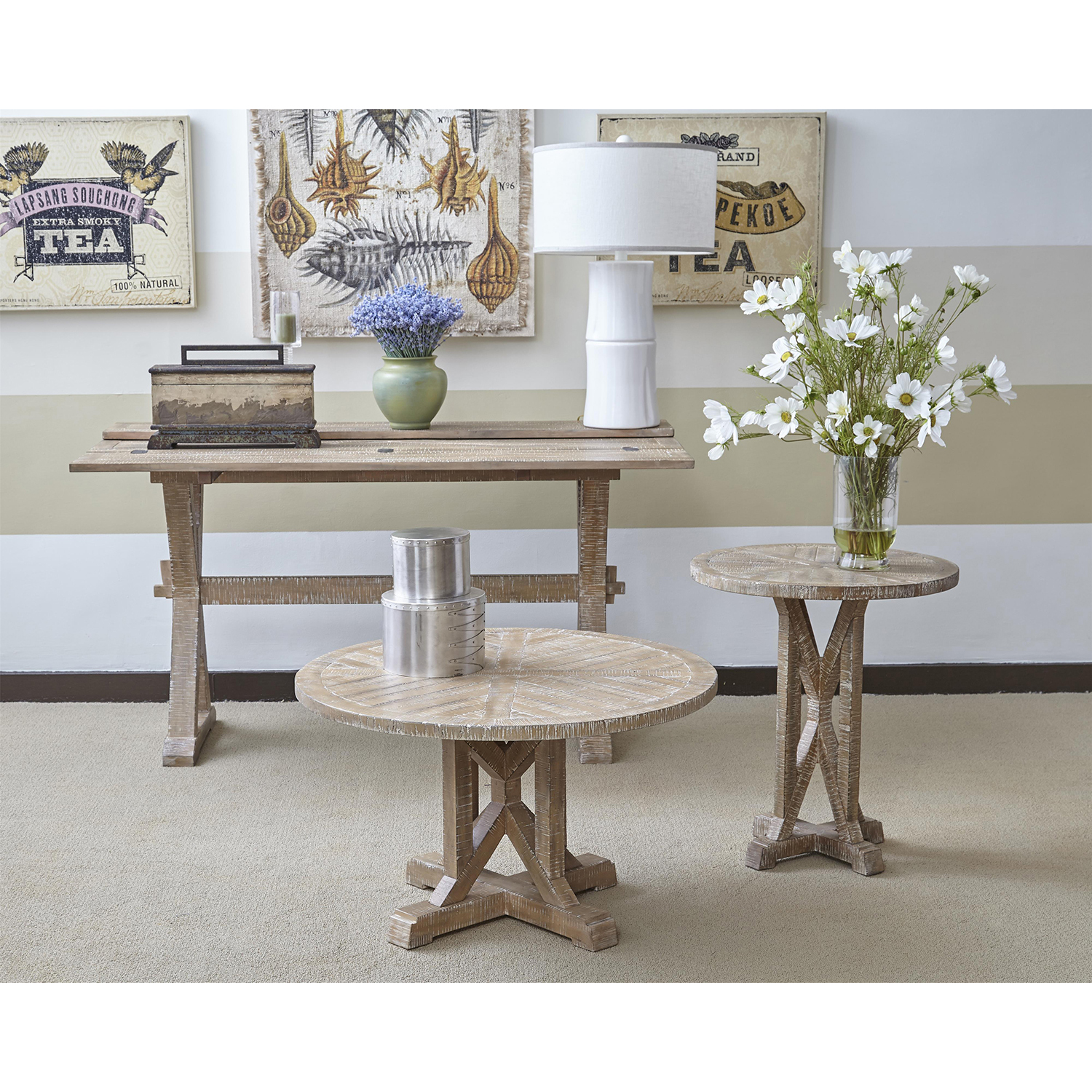Pacific Heights Drop Leaf Sofa Table/Desk - Bisque - JOFR-1591-4