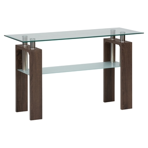 Compass Sofa Table - Glass Top