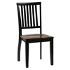 Braden 5 Pieces Dining Set - Round Table, Slat Back Chairs - JOFR-272-42TBKT-219KD-SET