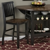 Braden 3 Pieces Counter Dining Set - Antique Black - JOFR-272-48-BS219KD-SET
