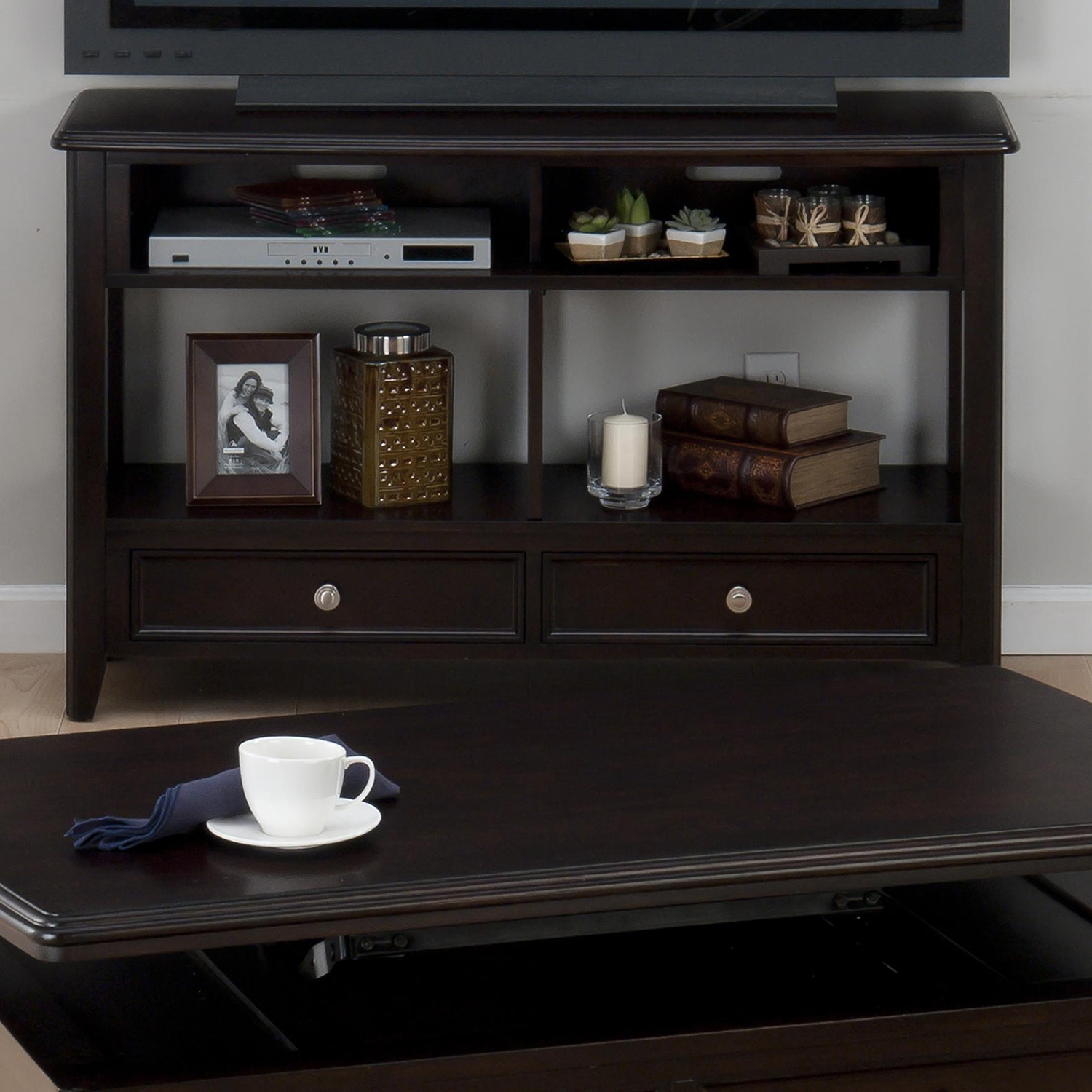 Coronado Sofa/Media Table - 2 Drawers, Espresso - JOFR-319-4