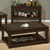 Lexington Cocktail Table - Shelf, Chamfered Panel Top, Brown - JOFR-334-1