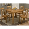 Simplicity 5 Pieces Dining Set - Square Table, X Back Chair, Honey - JOFR-352-42-806KD-SET