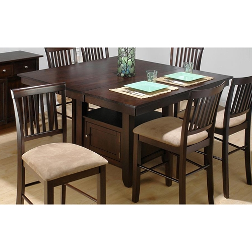 baker 39 s counter height table storage base cherry dcg stores. Black Bedroom Furniture Sets. Home Design Ideas