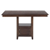 Olsen Counter Height Table - Storage Base, Oak - JOFR-439-60TBKT