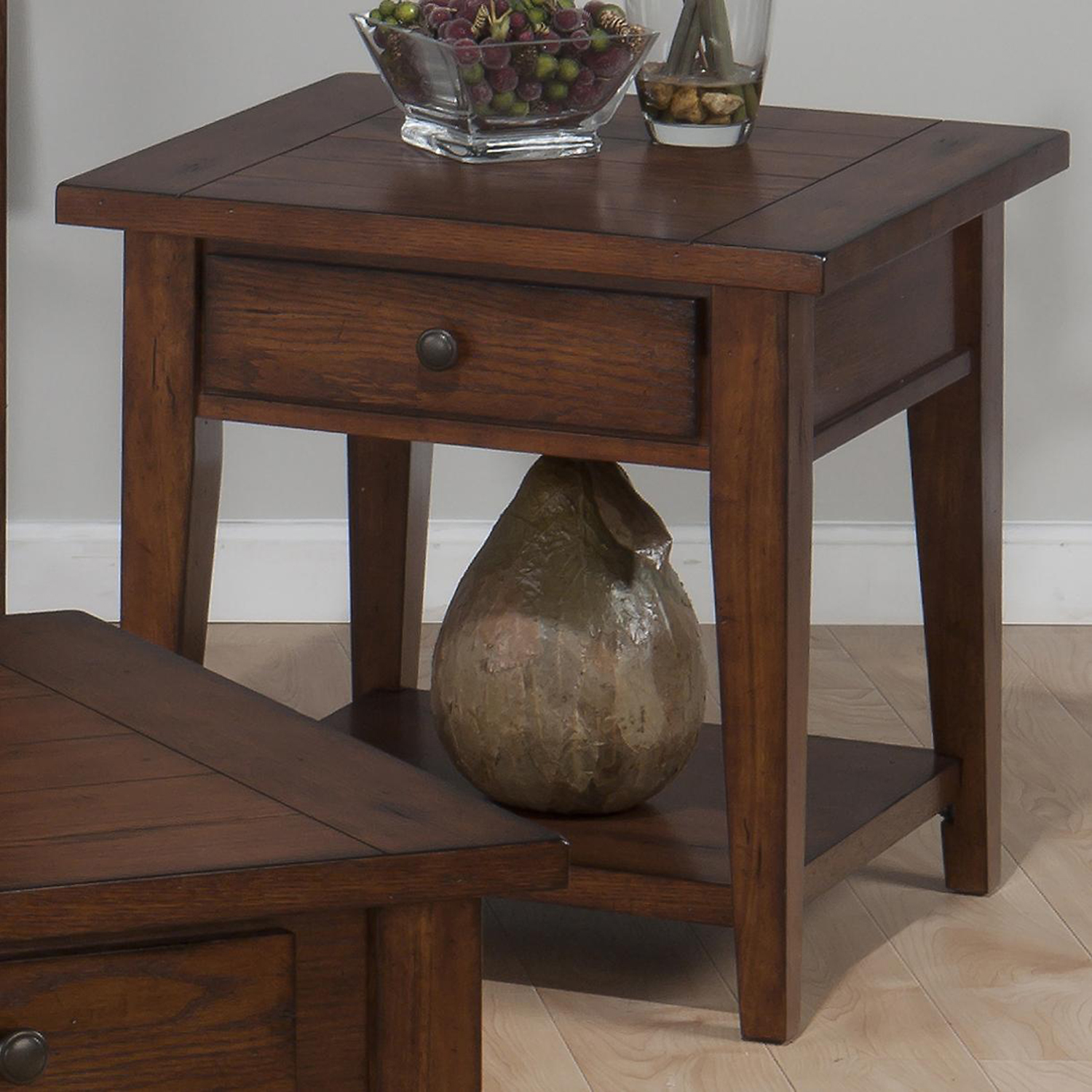 Clay County End Table - Oak - JOFR-443-3