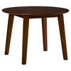 Simplicity 5 Pieces Dining Set - Round Table, Grid Back Chairs, Caramel - JOFR-452-28-939KD-SET