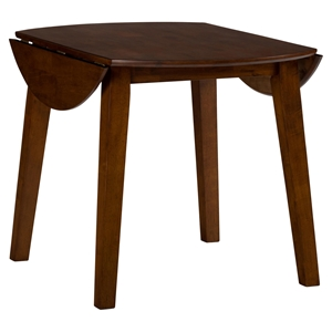 Simplicity Round Drop Leaf Table - Caramel
