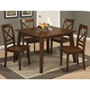 Simplicity 5 Pieces Dining Set - Square Table, X Back Chair, Caramel - JOFR-452-42-806KD-SET