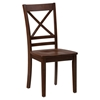Simplicity 5 Pieces Dining Set - Rectangle Table, X Back Chairs, Caramel - JOFR-452-60-806KD-SET