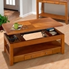 Sedona Oak Cocktail Table - Lift Top, 2 Drawers, Casters - JOFR-480-1