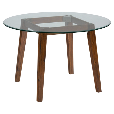 Plantation 48 Round Dining Height Table Glass Top DCG Stores