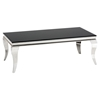 Tuxedo Cocktail Table - Stainless Steel and Black - JOFR-531-1