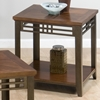 Barrington End Table - Inlay Wood Top, Casters, Cherry - JOFR-536-3