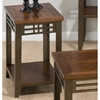 Barrington Chairside Table - Inlay Wood Top, Casters, Cherry - JOFR-536-7