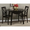 Simplicity 5 Pieces Dining Set - X Back Chair, Round Table, Espresso - JOFR-552-28-806KD-SET