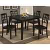 Simplicity 5 Pieces Dining Set - Grid Back Chairs, Square Table, Espresso - JOFR-552-42-939KD-SET