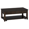 Cassidy Cocktail Table - Plank Top, Dark Brown - JOFR-561-1