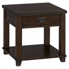 Cassidy End Table - Plank Top, Dark Brown - JOFR-561-3