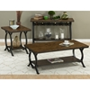 Harper's Press Sofa Table - Wine Rack, Dark Rustic Top - JOFR-617-4