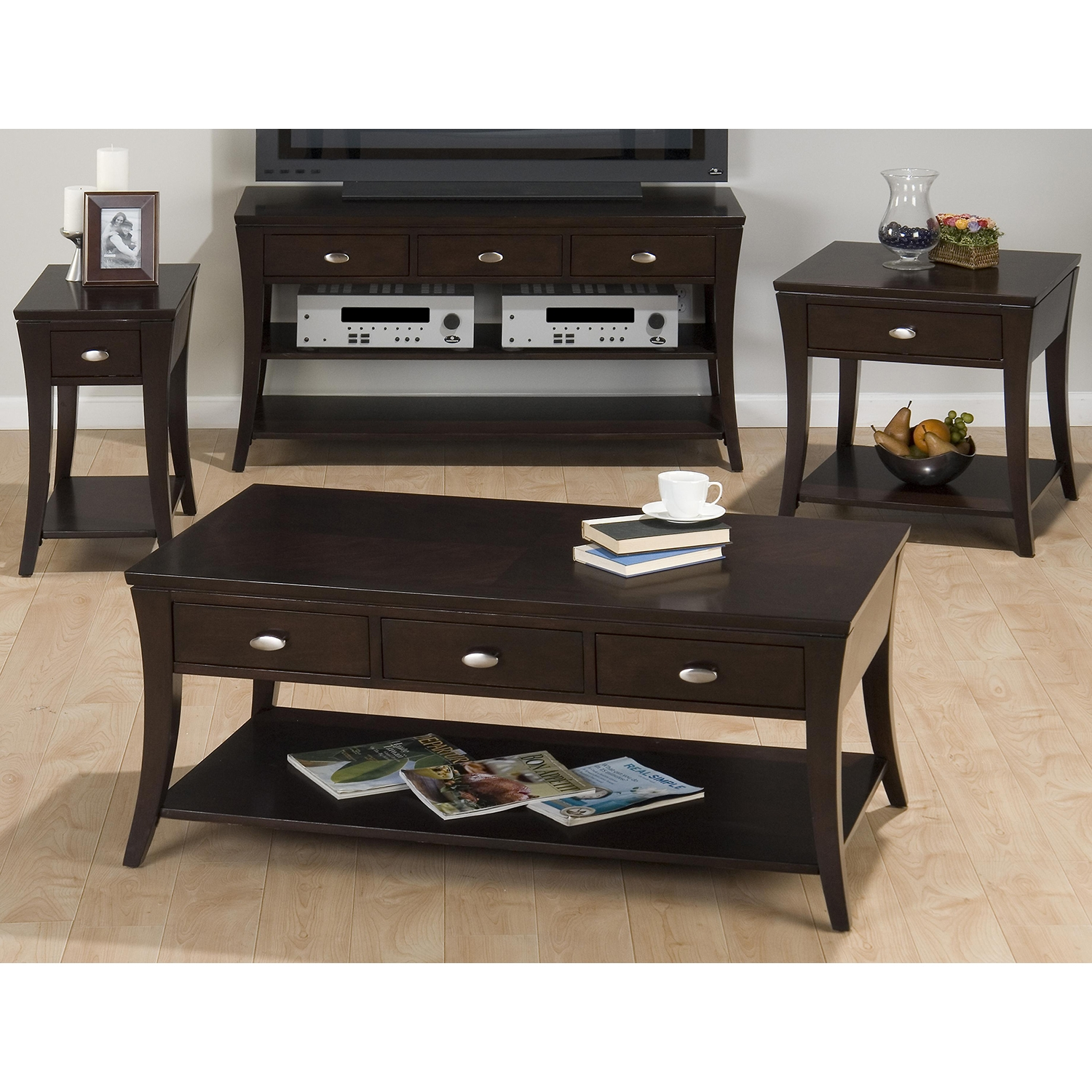 Manhattan Cocktail Table - Espresso - JOFR-629-1