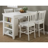 Madaket 5 Pieces Counter Dining Set - White - JOFR-647-60-BS831KD-SET