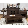 Geneva Hills Round Chairside Table - Rustic Brown - JOFR-677-7TBKT