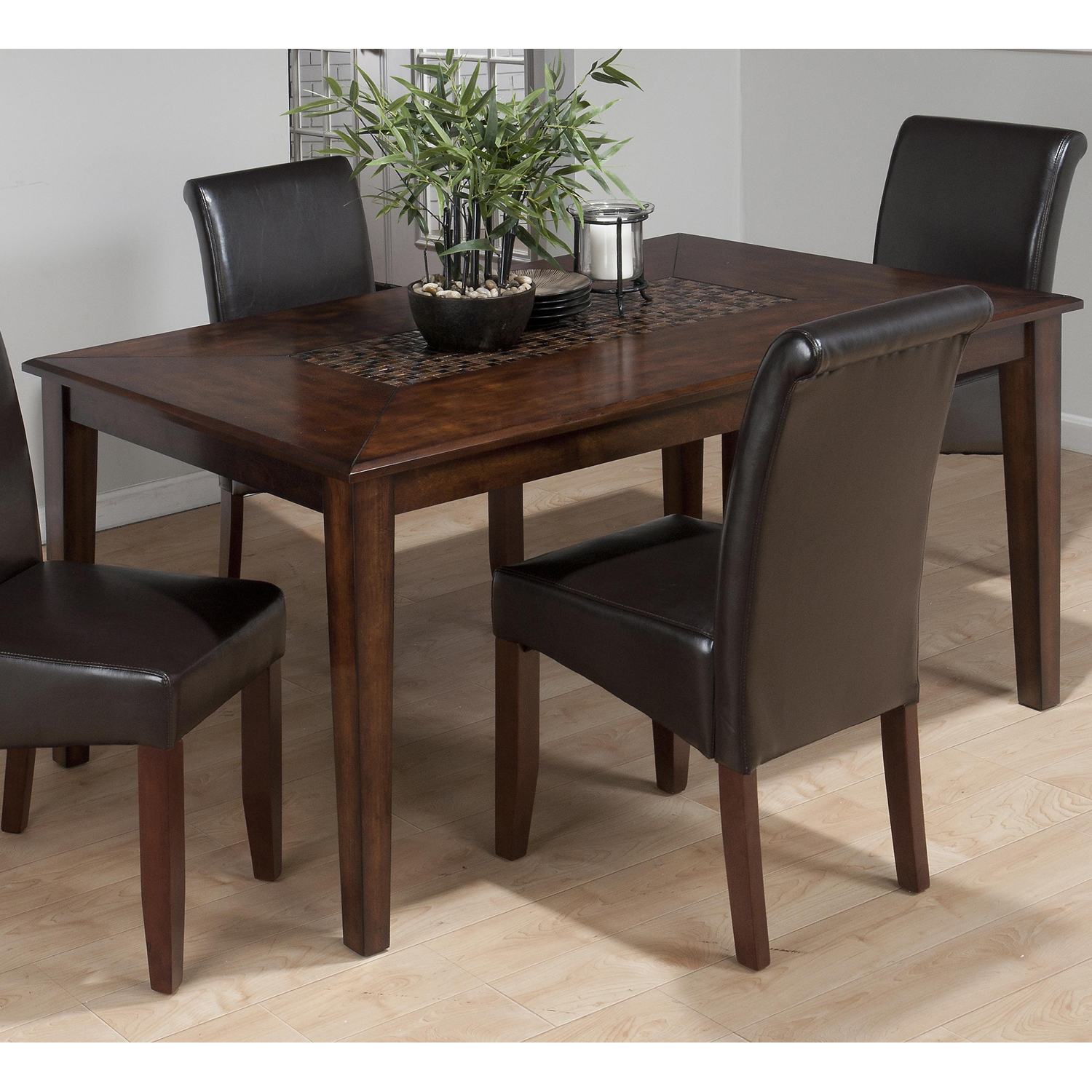 Baroque Standard Height Dining Table - Mosaic Inlay, Brown - JOFR-697-64