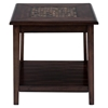 Baroque End Table - Mosaic Tile Inlay, Brown - JOFR-698-3