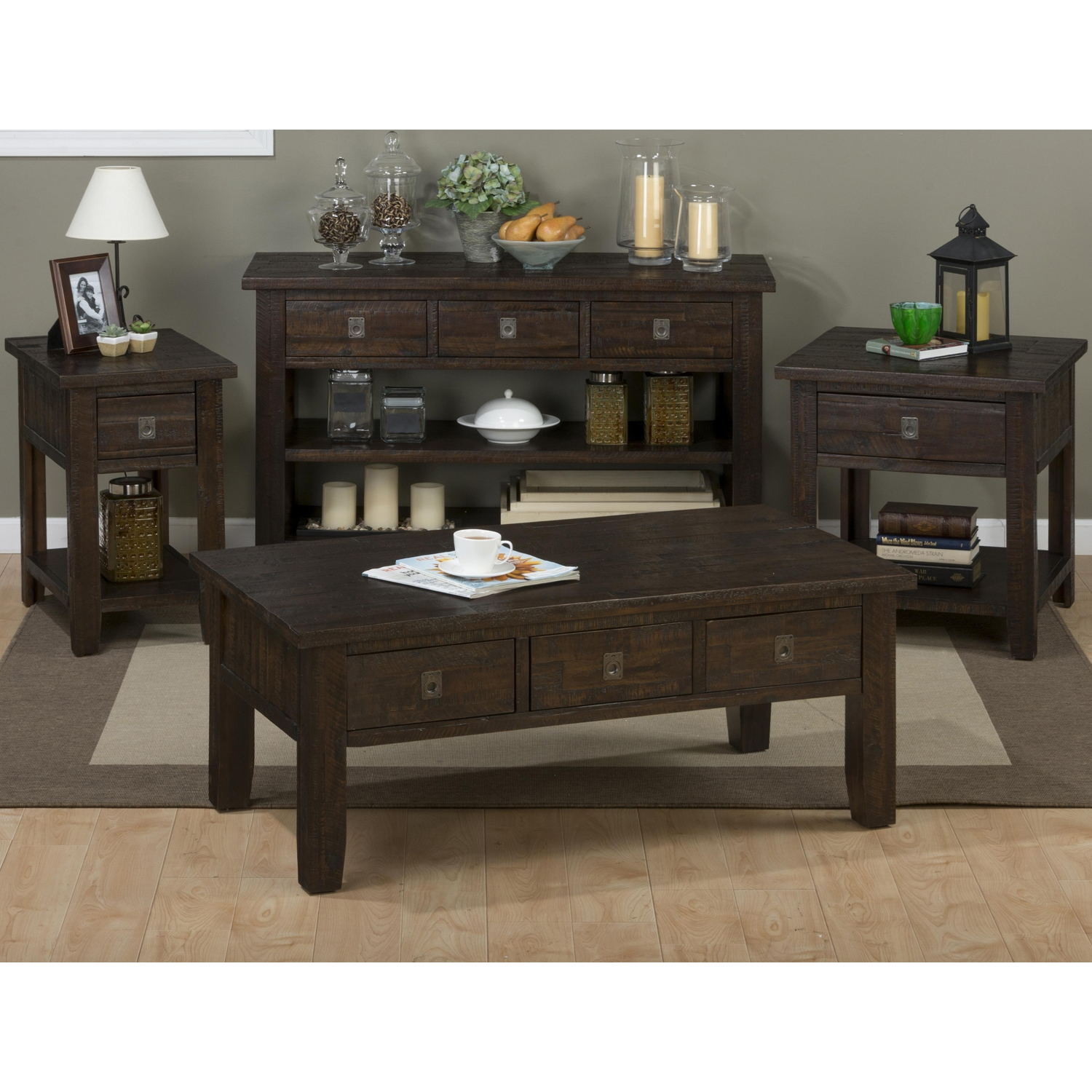 Kona Grove Rectangle Cocktail Table - Chocolate - JOFR-704-1