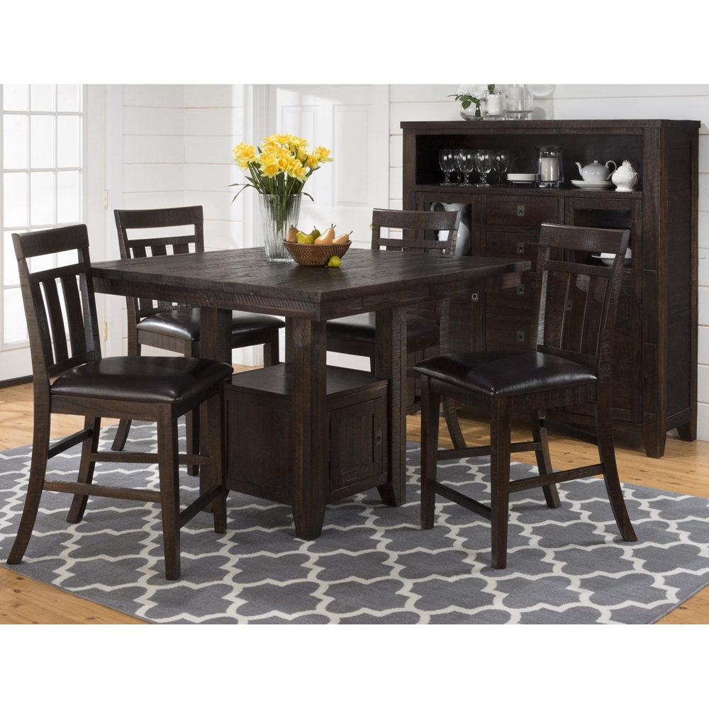 kona grove fixed pub table storage base chocolate dcg stores. Black Bedroom Furniture Sets. Home Design Ideas