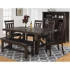 Kona Grove 5 Pieces Dining Set - Slat Back Chairs, Chocolate - JOFR-705-79-410KD-SET