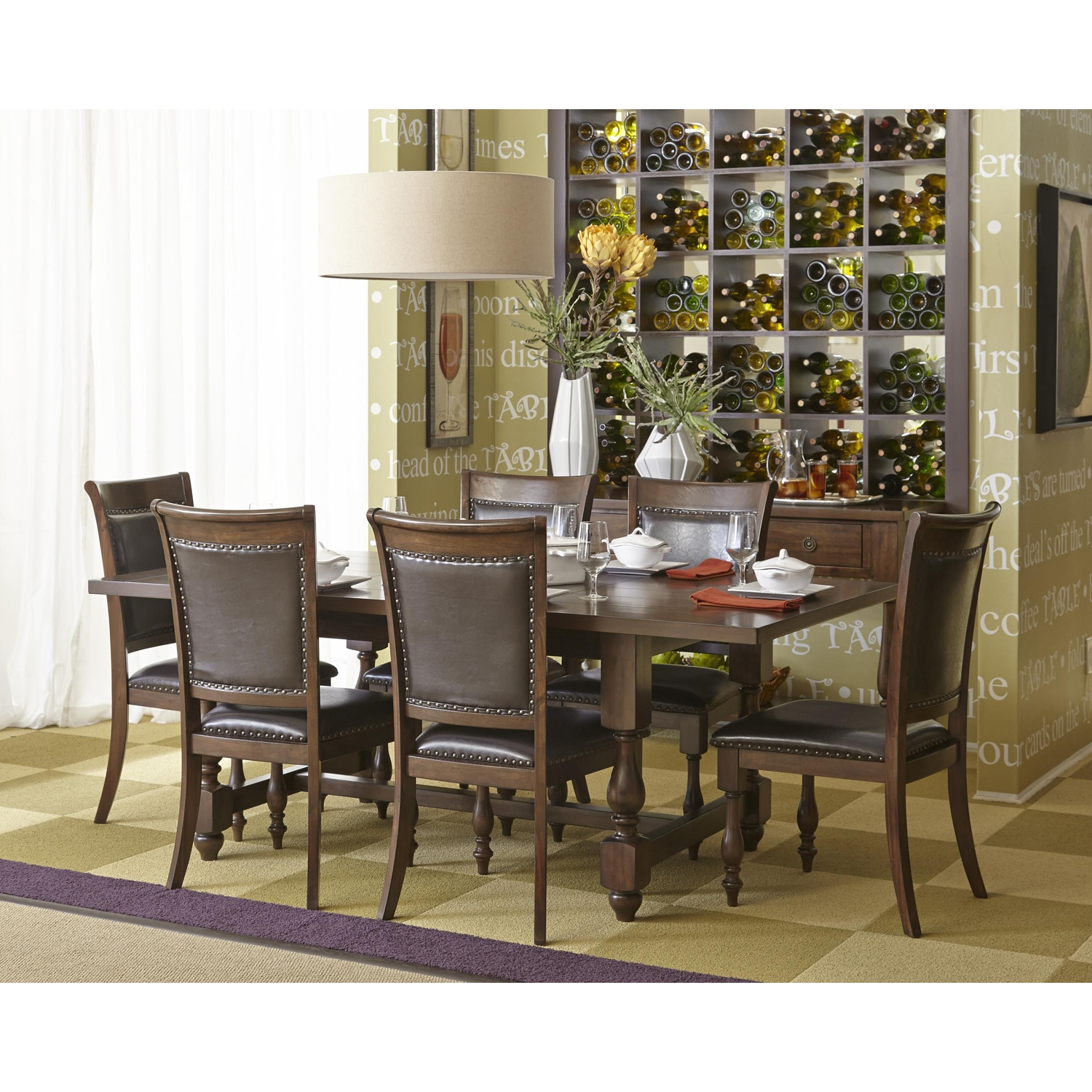 Grand Havana Rectangular Dining Table - Rich Tobacco - JOFR-723-78