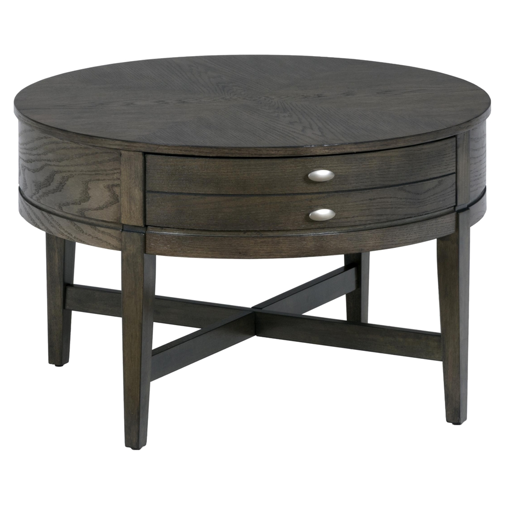 Antique gray 30 round cocktail table dcg stores for Cocktail tables 30