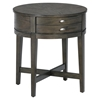 "Antique Gray 22"" Round End Table - JOFR-729-3"