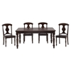 Urban Lodge 5 Pieces Dining Set - Napoleon Chair, Fixed Top Table - JOFR-733-66-709KD-SET