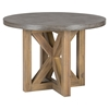 Boulder Ridge 5 Pieces Dining Set - Concrete Top Table, Pedestal Base - JOFR-757-43TBKT-611KD-SET